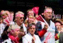 Actie voor cao verzorgenden en verpleegkundigen