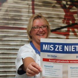 Van Jolanda van Tunen maakte een poster over hoe een delier zich kan openbaren.