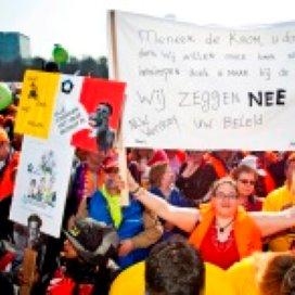 Protest sociale werkplaatsen tegen kabinetsplannen