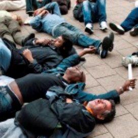 Daklozen voeren actie tegen bezuinigingen