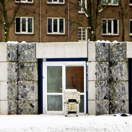 Woningen voor extreme overlastveroorzakers op de Jan Frankelaan in Amsterdam.
