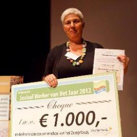 Evalien Verschuren werd Sociaal Werker van het Jaar 2012.