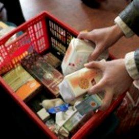 Kleine zelfstandigen nieuwe klanten voedselbank