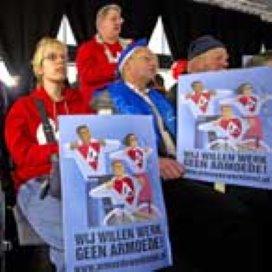 Protest tegen bezuiniging op voorzieningen lage inkomens