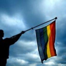 Demonstratie tegen homogeweld in Amsterdam