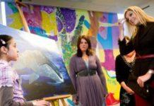 Prinses Máxima bezoekt Oranje Fonds project