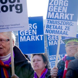Demonstratie tegen 'afbraak thuiszorg'