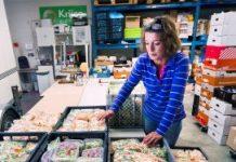 De voedselbank in Amersfoort in betere tijden: met een overschot aan rauwkost.