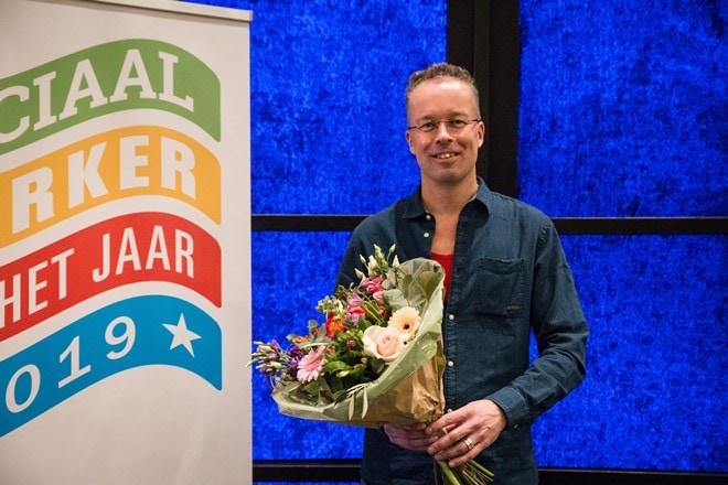 Norbert Wijnhofen, op 13 maart verkozen tot Sociaal Werker van het Jaar 2019.