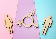 illustratie man vrouw en intersekse symbool