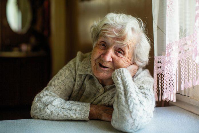 foto van oudere dame