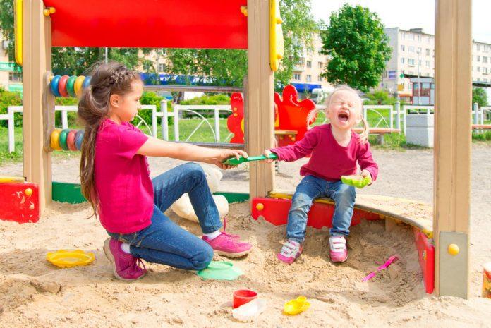 Ruzie in speeltuin