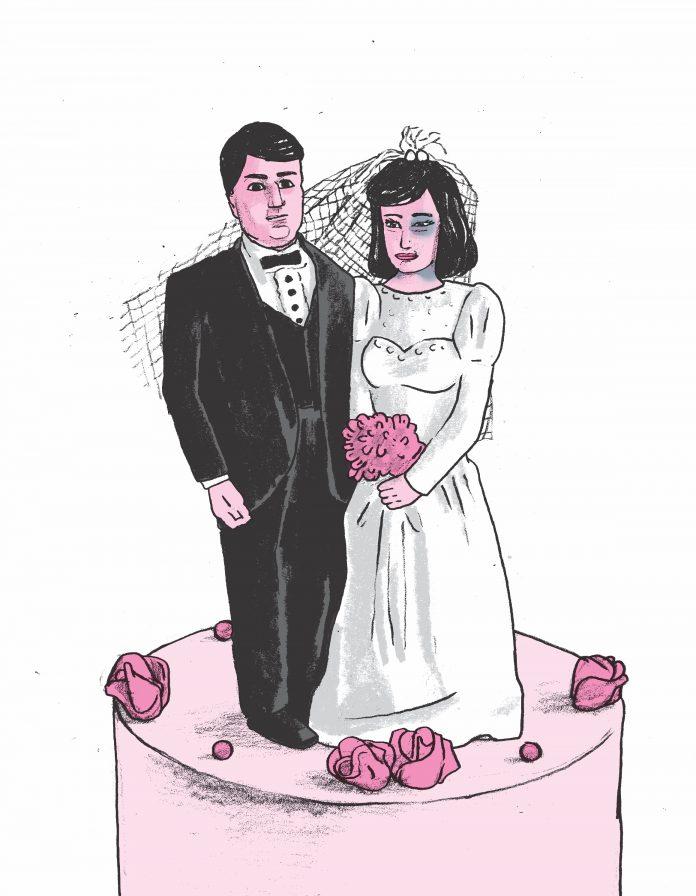 Bruidspaar geweld