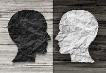 hoofden zwart wit